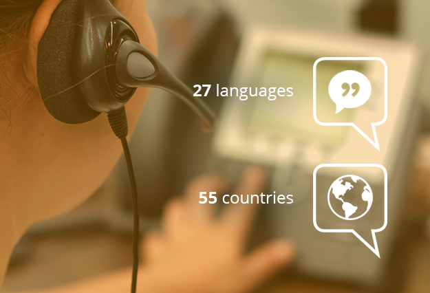 Dialogmarketing in 27 languages in 55 countries.